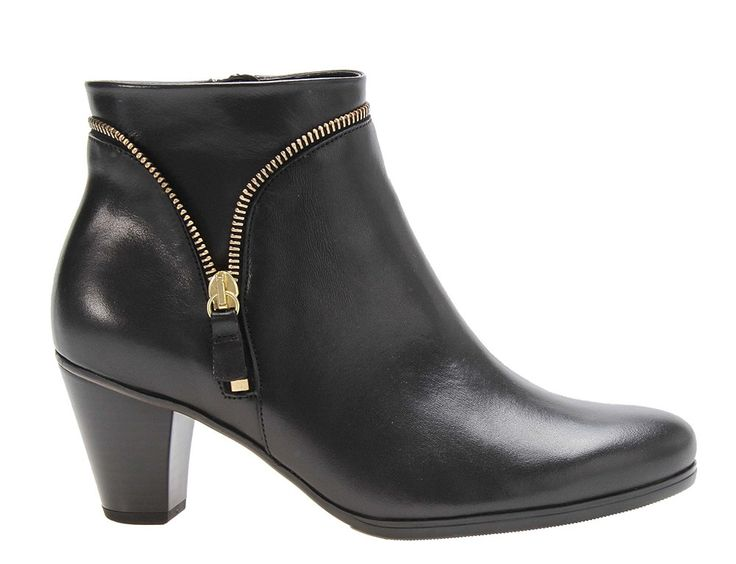Gabor Onida Ladies Zip Detail Dress Ankle Boot 95.614 - 47 Black - Robin  Elt Shoes http://www.robineltshoes.co.uk/store/search/brand/Gabor/ #Autum…