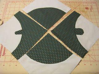 Drunkard's path turtle quilt block tutorial