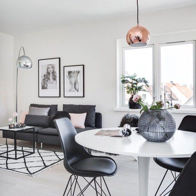 Ikea 'Söderhämn' sofa & 'Docksta' tulipe table @stylingbydenice