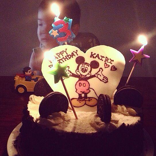 I wish you are always smiling.  産まれてきてくれてありがとう! - 70件のもぐもぐ - 3歳のお誕生日ケーキ。 by Yuka Nakata