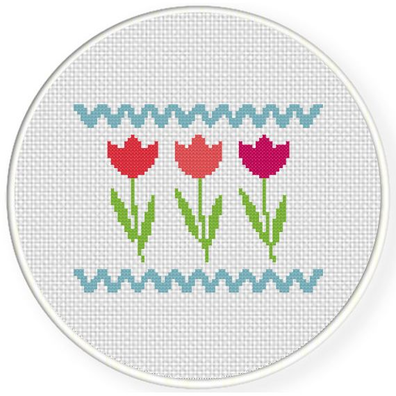 FREE for March 9th 2015 Only - Flowers Cross Stitch Pattern