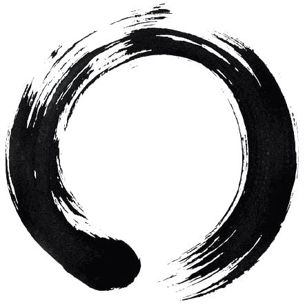 KEEP IT SIMPLE: The enso symbol, which I use as the art for this post, signifies many concepts in Zen Buddhist painting. When it is painted as an incomplete circle, it suggests that imperfection is a necessary and true component of existence, and therefore is necessary for balance
