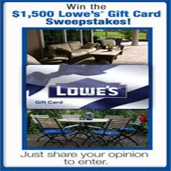How To Win A $1,500 Lowe's Gift Card - Consumer Expressions is giving away a $1,500 Lowe's gift card. You can participate in this offer here and stand a chance to win the $1,500 Lowe's gift card. Lowe's operates a chain of retail home improvement and appliance stores. You will find quality appliances, paint, patio furniture, tools, flooring, hardware and more for all your home improvement needs at Lowe's. Participate now!