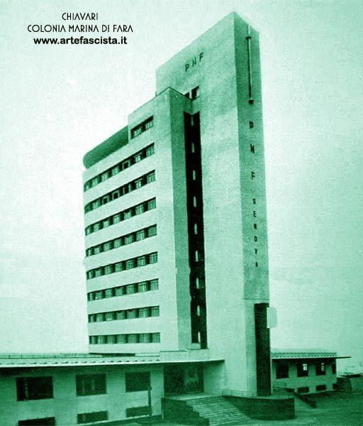 """1935 """"Colonia Fara"""" Futuristic architecture (Lavagna, Genova - Italy)"""