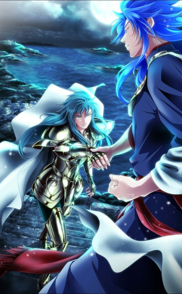 Aquarius Camus and Gemini Saga