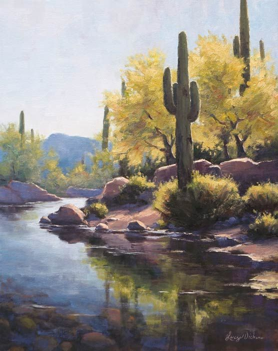 After the rains by lucy dickens art artists i for Landscaping rocks yuma az