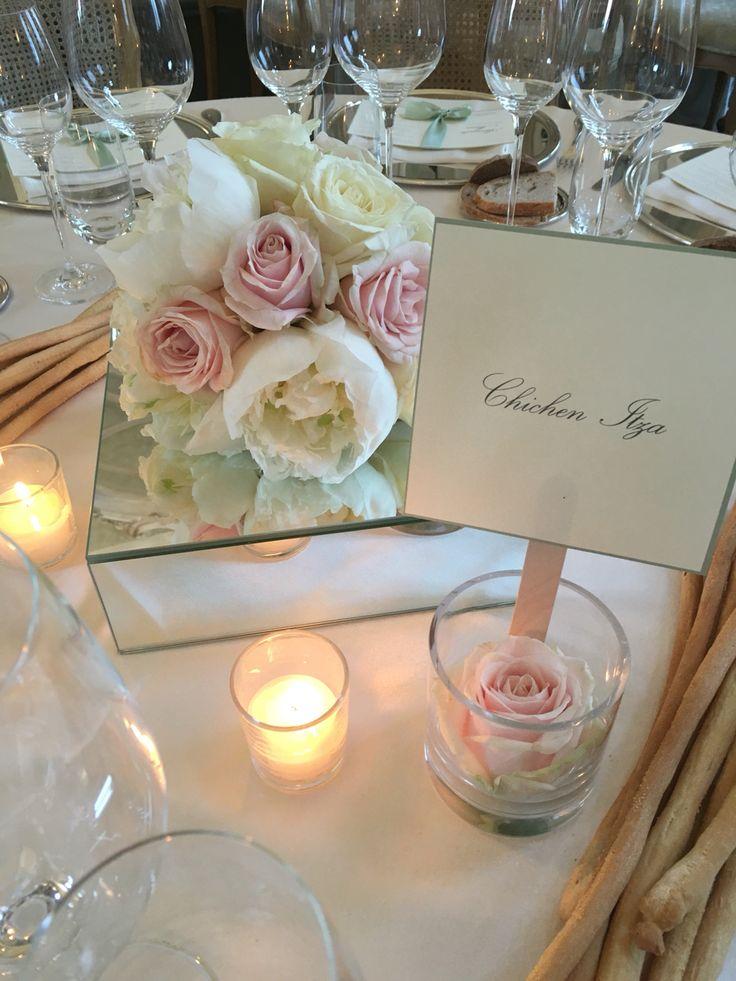 Centrotavola, matrimonio, specchi, peonie, rose, allestimento matrimonio, fiori per matrimonio, Wedding fiori