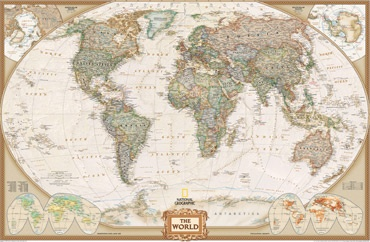 OMG this is an actual wall mural map that you can buy specifically to put on an entire wall