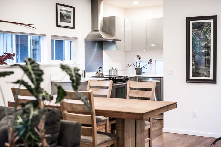 Method Homes - West Seattle Townhomes | dining room ideas | dining room table | dining room decor | dining room | dining room lighting