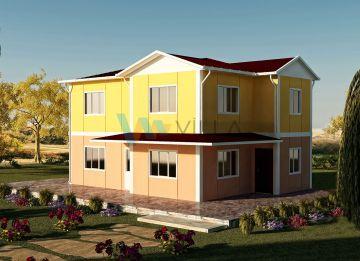 142 m² Çift Katlı Prefabrik Ev