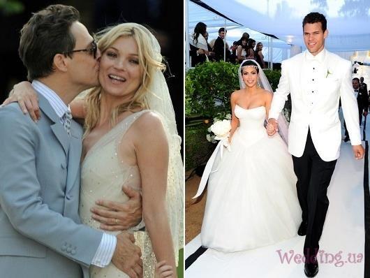 Костюмы знаменитостей на свадьбе