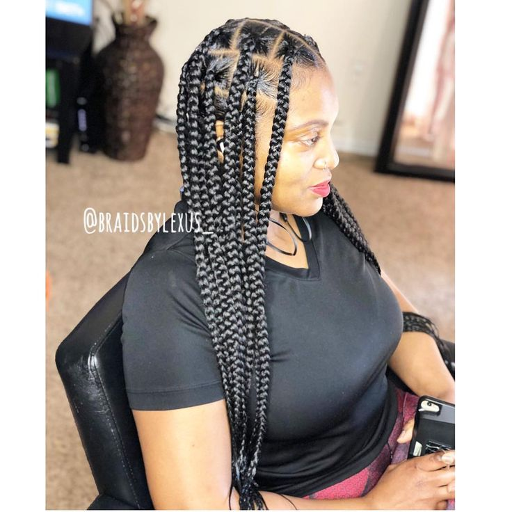 Knotless Box Braids💫 On Instagram Painless Tensionless