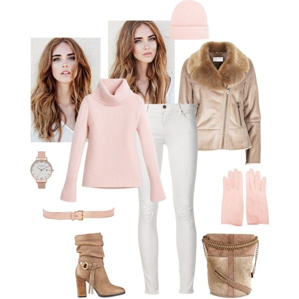 A comfy light winter set by besyata on Polyvore featuring мода, White House Black Market, GUESS, Olivia Burton and NLY Accessories