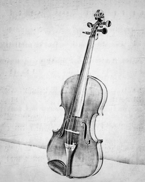 A Simple Violin Pencil Sketch Art Music Drawing Sketch Art
