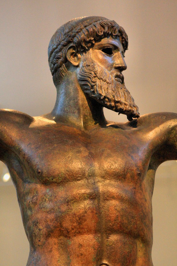 Poseidon of Artemision, 5th C. BC bronze, National Museum, Athens