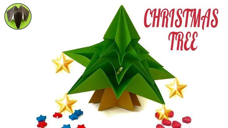 "Origami Tutorial to make ""CHRISTMAS TREE"""