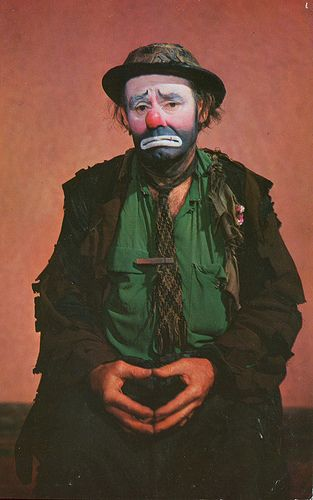 "Emmett Kelly as ""Weary Willie"" World Famous Clown MY FAVORITE CLOWN....HAVE SEVERAL OF HIS ART PIECES."