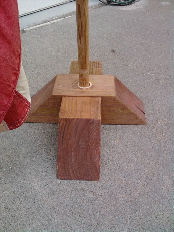 WOODEN FLAG STAND Portable and will Withstand by karneskreations, $20.00