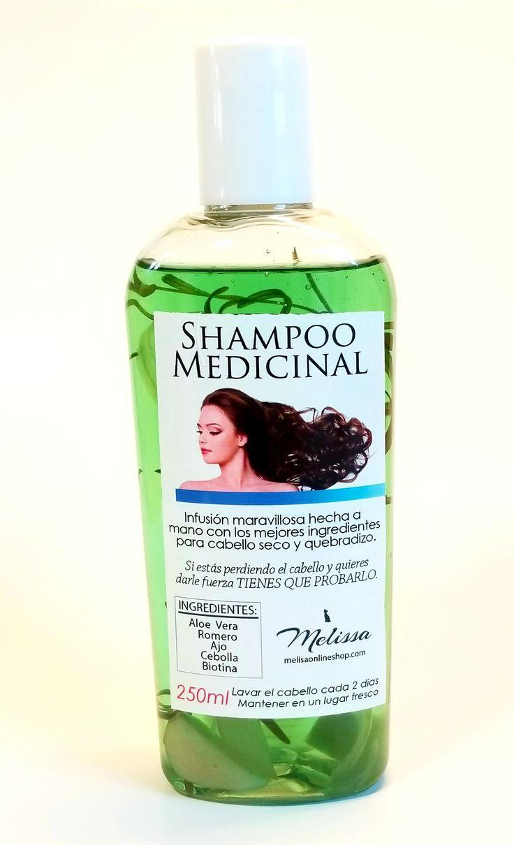 Shampoo Medicinal de Ajo, Cebolla, Aloe Vera