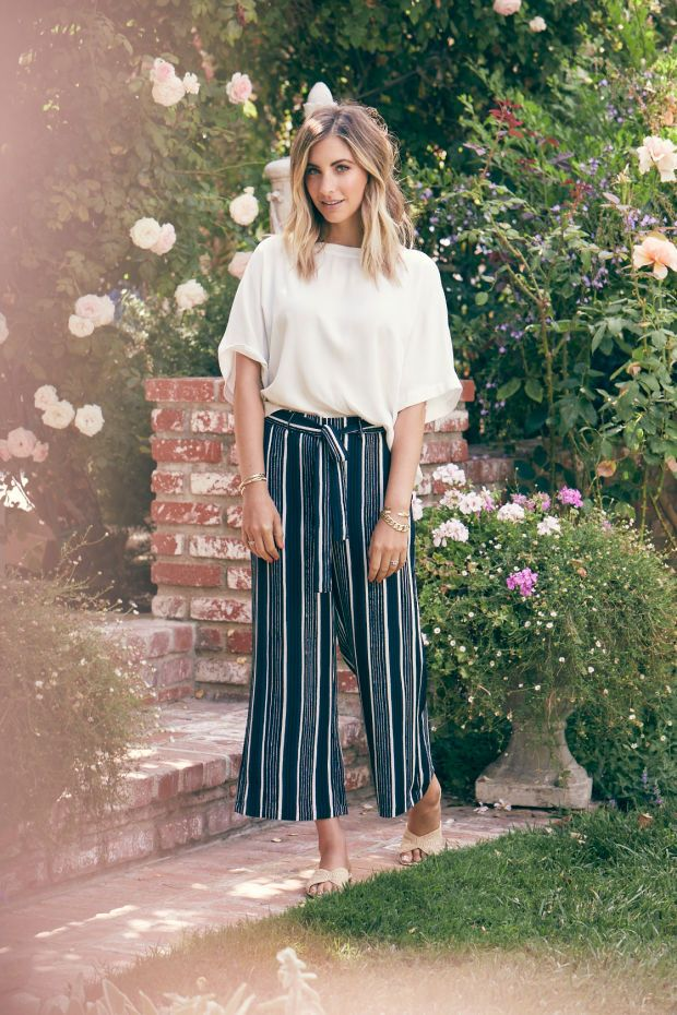 How To Style Striped Cropped Wide Legged Pants