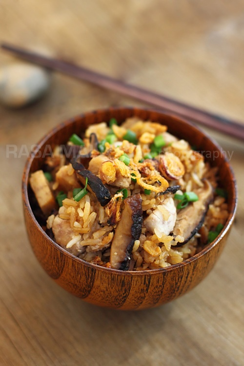 Yam Rice (芋头饭) recipe - In my family, we almost never had yam rice at home so I didn't know how to make yam rice until my mother-in-law came visit us a few years ago. She taught me how to make this easy one-pot dish and now, I whip it up whenever I am lazy to cook. #malaysian #rice