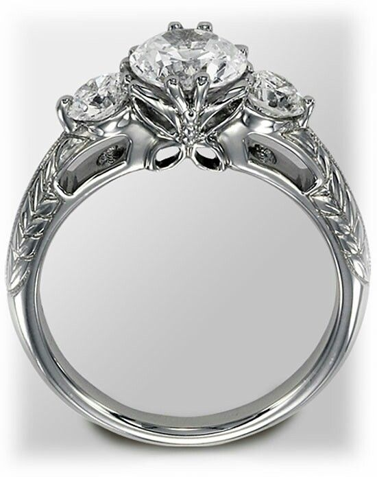like profile engagement ring - Butterfly Wedding Rings