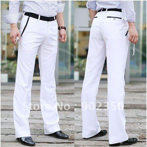 fashion  mens suit pants groom trousers slim korean dress pants white suit pants  M/L/XL X06