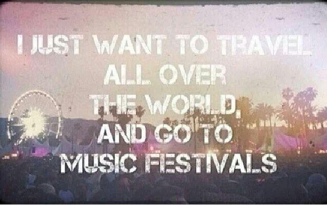 Travel & go to music festivals