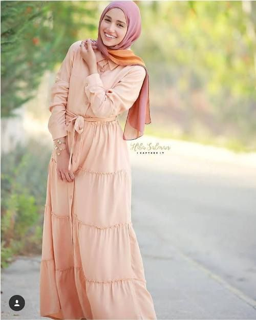 e4a8705b6bd21 Maxi dresses with hijab styles – Just Trendy Girls | Hijab in 2019 ...