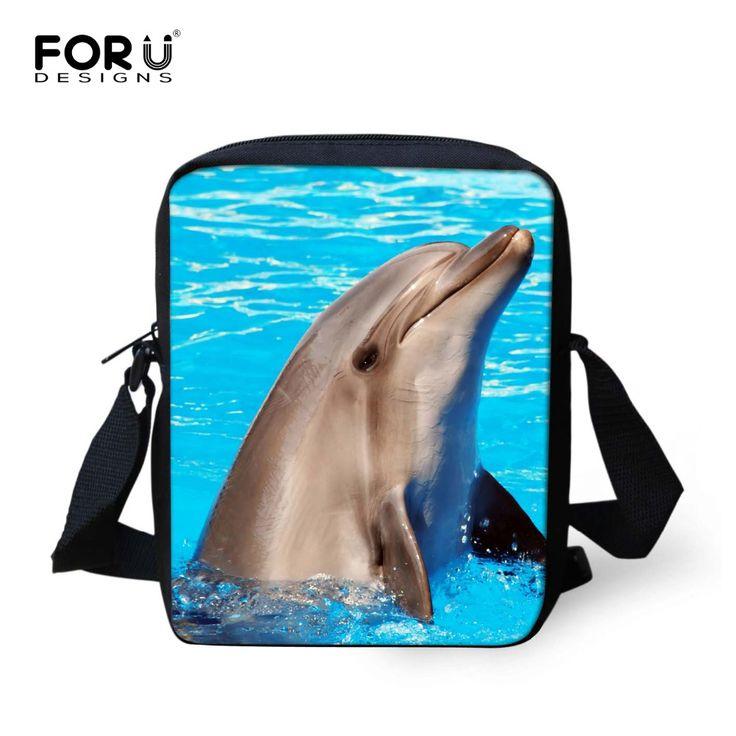Novelty shark dolphin dog leopard women's messenger bags leisure mujer travel crossbody bags for men designer bag for ladies
