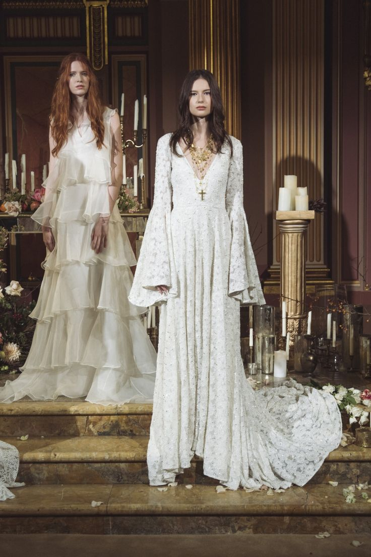 Bohemian Silhouettes / NY Bridal Fashion Week Fall 2017 / Photo: The LANE