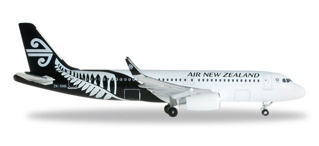 Airbus A320 Air New Zealand a escala 1:500, productor: Herpa mas informacion; www.maqualas.cl