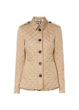 BURBERRY Gewatteerde jas met knoopsluiting
