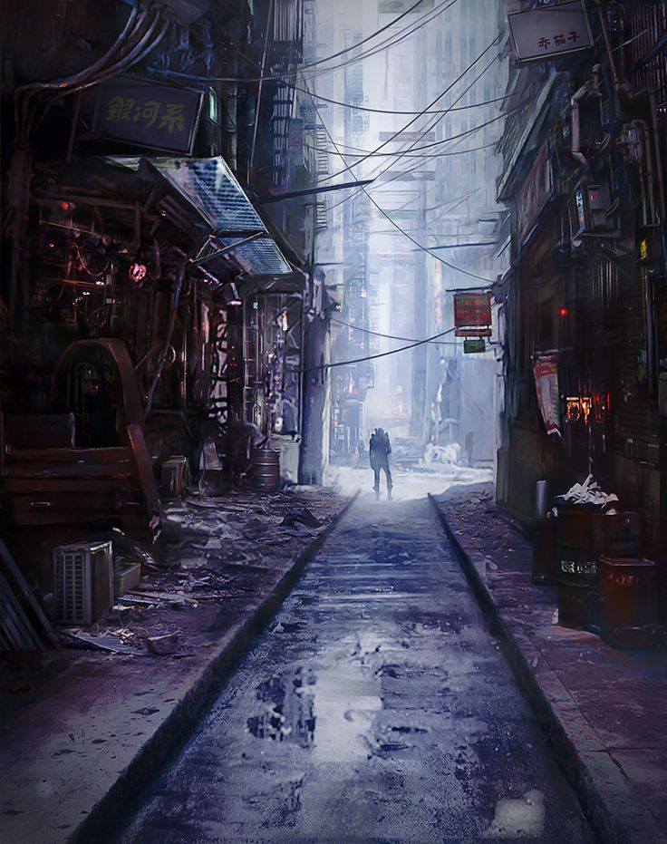 Alley, Alina Kapustina on ArtStation at https://www.artstation.com/artwork/NarBN
