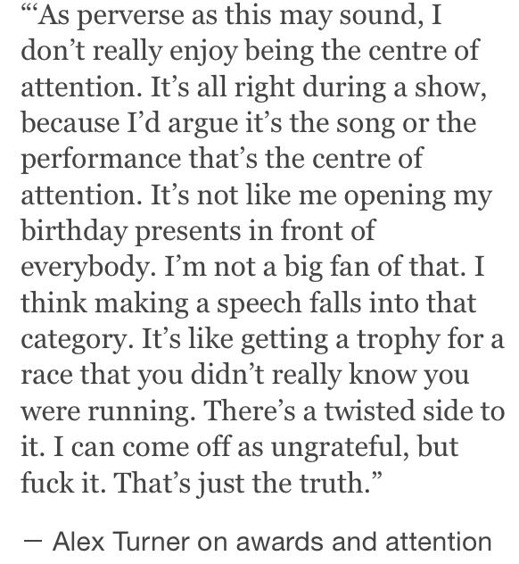 Why I love Alex turner