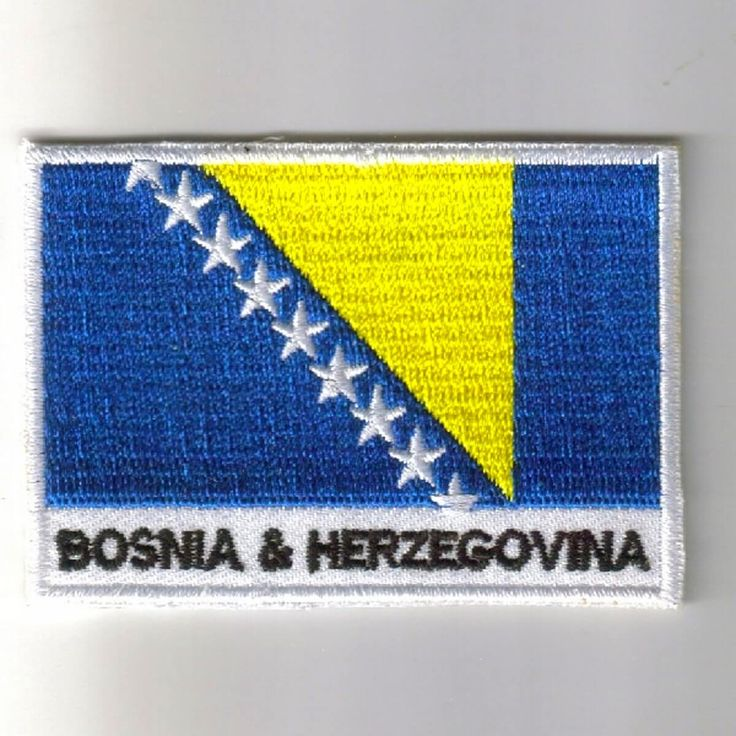 FLAG PATCH PATCHES Bosnia IRON ON COUNTRY EMBROIDERED WORLD FLAG