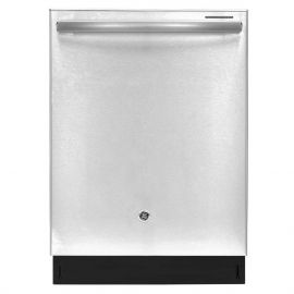 Le lave-vaisselle encastré à cuve haute de General Electric produit 45 décibels. Il dispose de sept cycles de lavage, neuf options, cinq niveaux de lavage et une capacité de 16 couverts. L'appareil a un fini en acier inoxydable et mesure 23 3/4