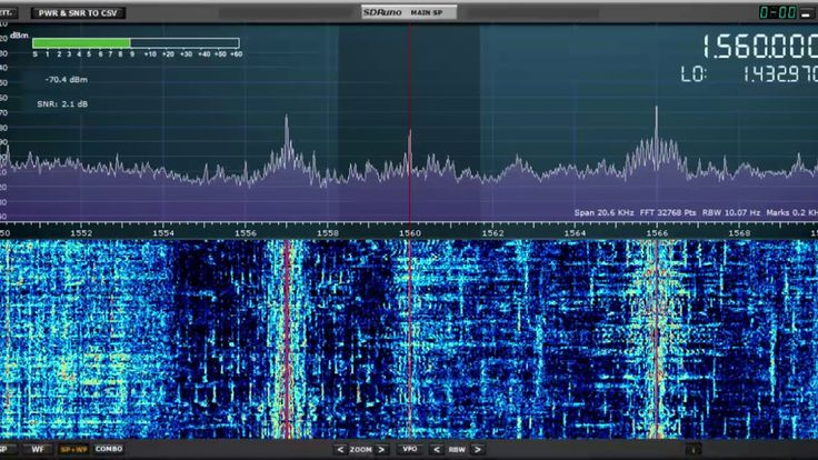 SDRPlay RSP1A: WFME Family Radio 1560 kHz New York copied above the QRM