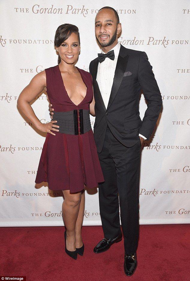 Alicia Keys and Swizz Beatz at the 2014 Gordon Parks Foundation Awards Dinner & Auction http://dailym.ai/1madNvZ