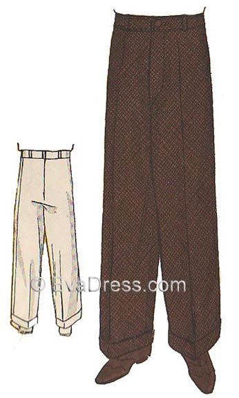 1934 Men's Wide Leg Trousers Pattern by EvaDress by EvaDress on Etsy https://www.etsy.com/listing/251397795/1934-mens-wide-leg-trousers-pattern-by