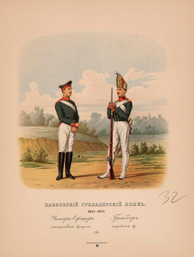 Life Guards Pavlovsky Regiment 1811-1812. | Военная ...