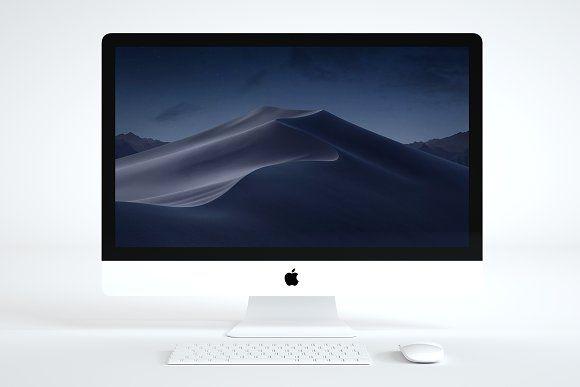 Apple Imac Mockup 5k Imac Scene Setup 8gb