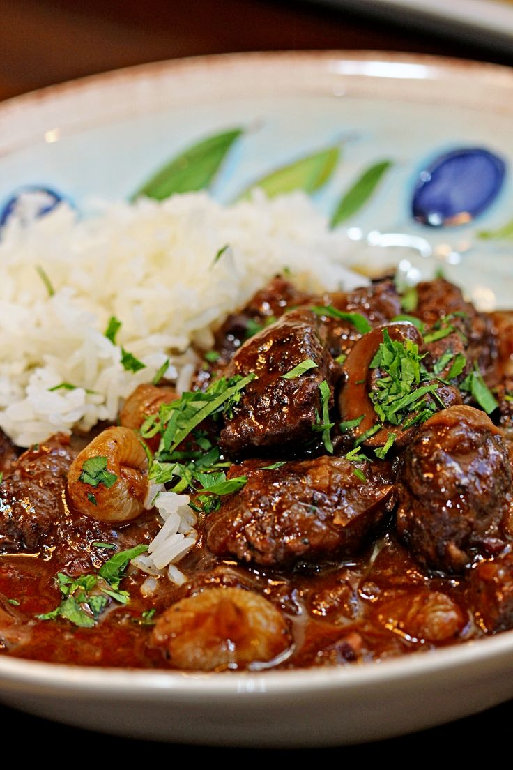 Beef Bourguignon is always a good comfort food standby that looks like a lot of effort, but it's really easy, all about the fresh ingredients and a slow cook in the oven. My Beef Bourguignon - keviniscooking.com
