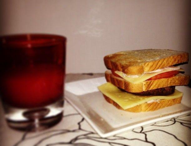 Sandwich hecho en casa