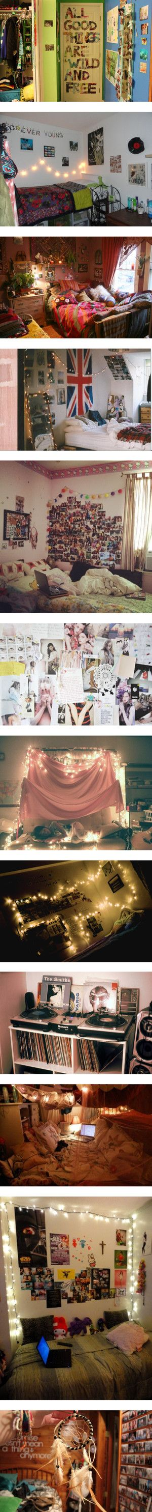 """""""indie/hipster/alternative bedroom inspiration"""" by the-hipster-tip-sisters I'm SO in love with these ideas."""