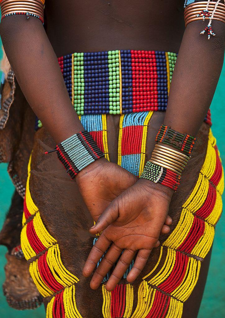 Africa | Hamer girl's skirt and jewellery. Turmi. Omo Valley. Ethiopia | © Eric Lafforgue  #erice  #sicilia #sicily