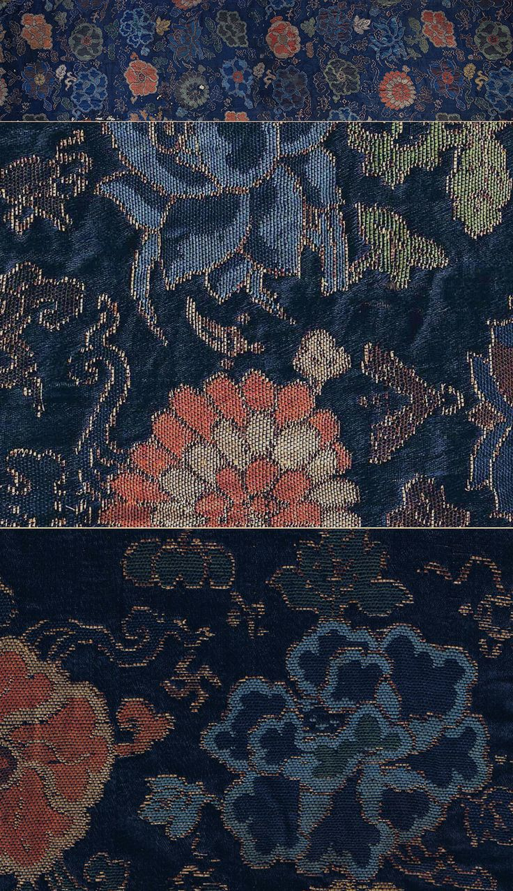 Antique Chinese Silk Textile, woven with gold leaf on paper, Ming Dynasty  1368- 1644A.D