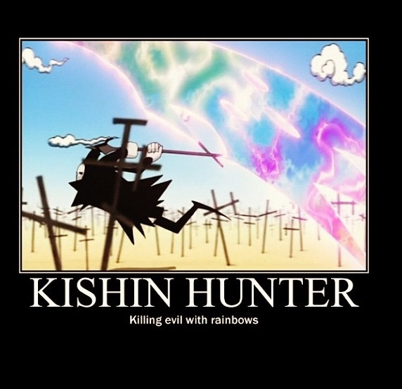 Soul Eater Kishin Hunter Reaper. Pretty rainbows!