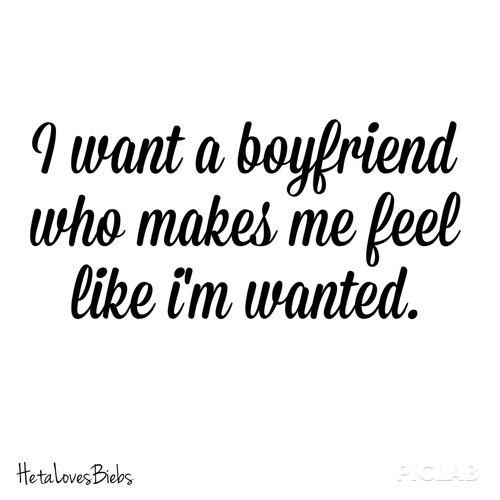 I want a boyfriend
