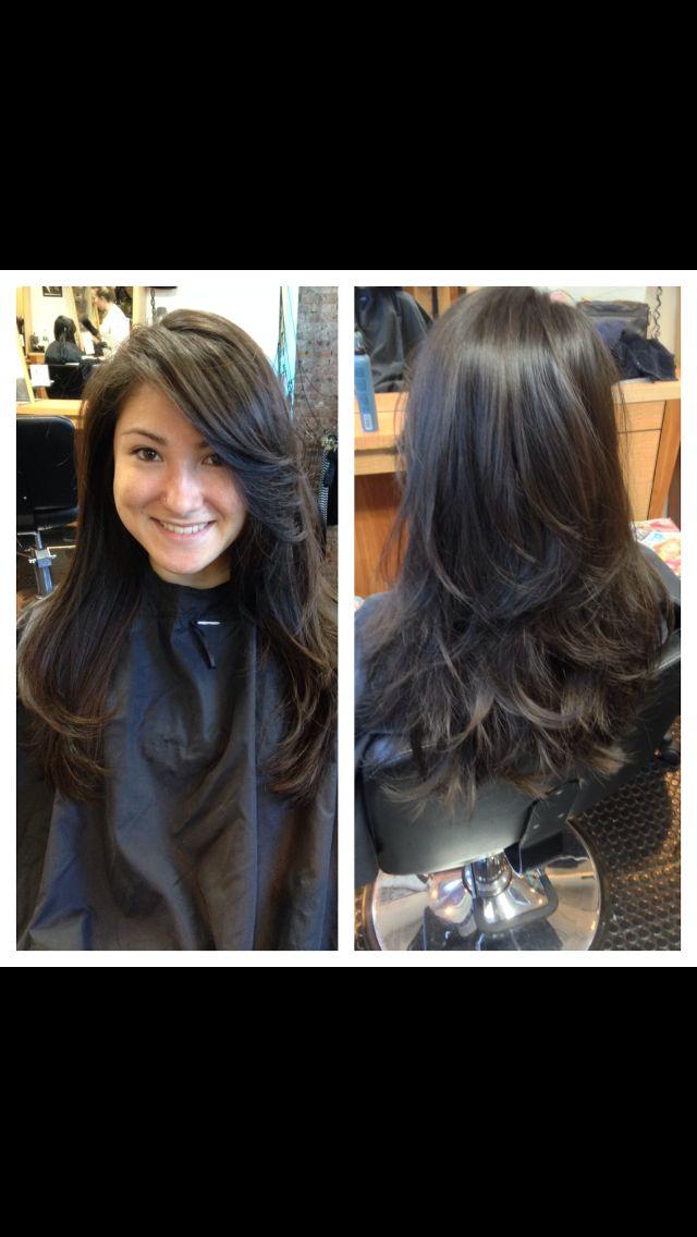 Long layered haircut Tiffany @ sparks hair design. New Brunswick, Nj